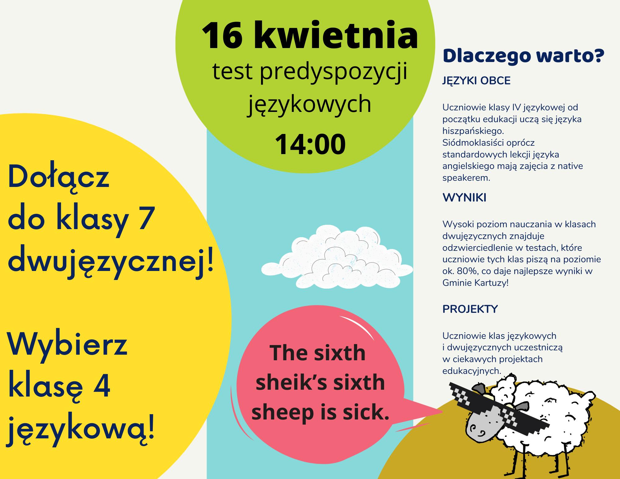 Rozpocznij naukę w klasie językowej! Dołącz do klasy dwujęzycznej!