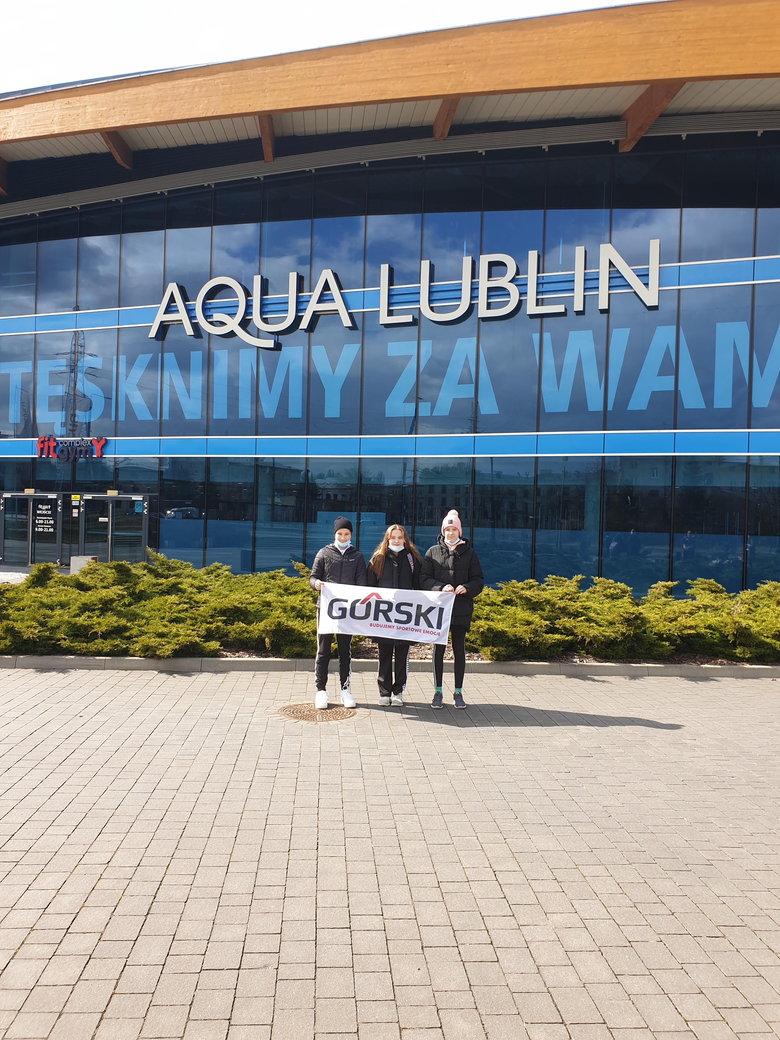 """Pierwszy start pływaczek GKS Cartusia rocznika 2007 w """"Arena Grand Prix Puchar Polski"""""""