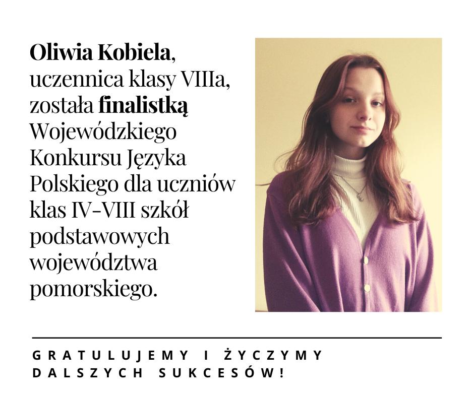 Oliwia finalistką konkursu kuratoryjnego!